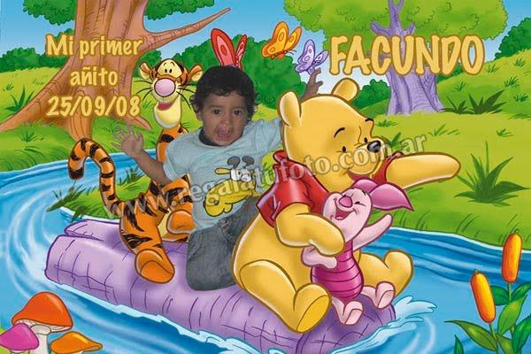 Winnie Pooh Cu0056 Regalá Tu Foto