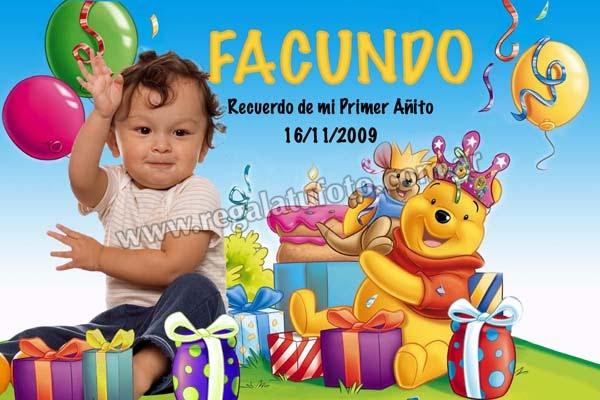 Winnie Pooh Cu0276 Regalá Tu Foto