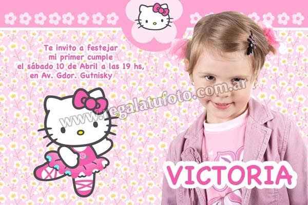 Tarjetas De Invitacion De Cumpleanos De Hello Kitty Wallpapers | Real ...