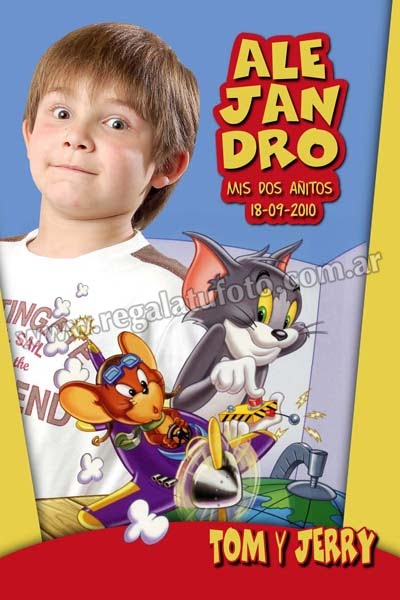 Tom Y Jerry Cu0417 Regalá Tu Foto
