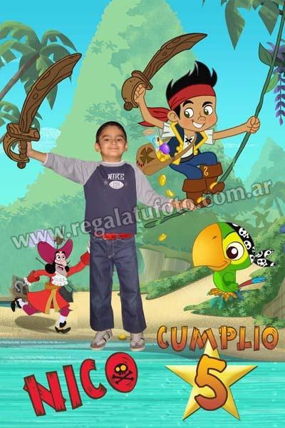Jake Y Los Piratas De Nunca Jamas Cu0504 Regalá Tu Foto