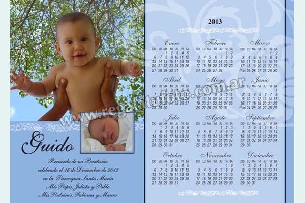 Almanaque Bautismo - AL0581 | Regalá tu foto