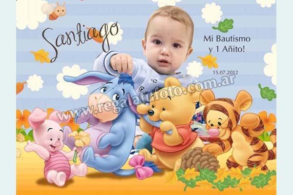 Bautismo Winnie Pooh Bebe Ba0596 Regalá Tu Foto