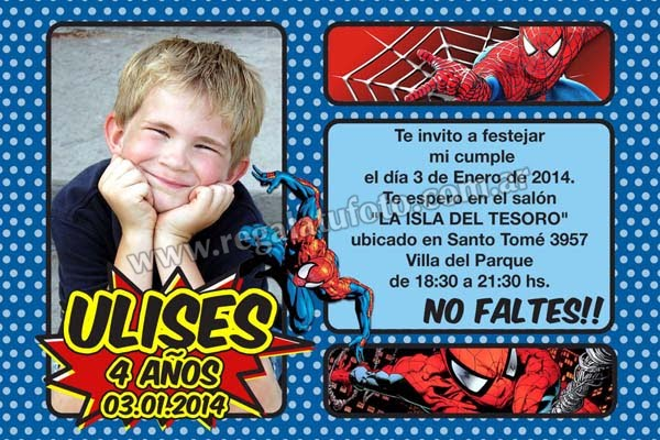 spiderman modelos de tarjetas regal tu foto